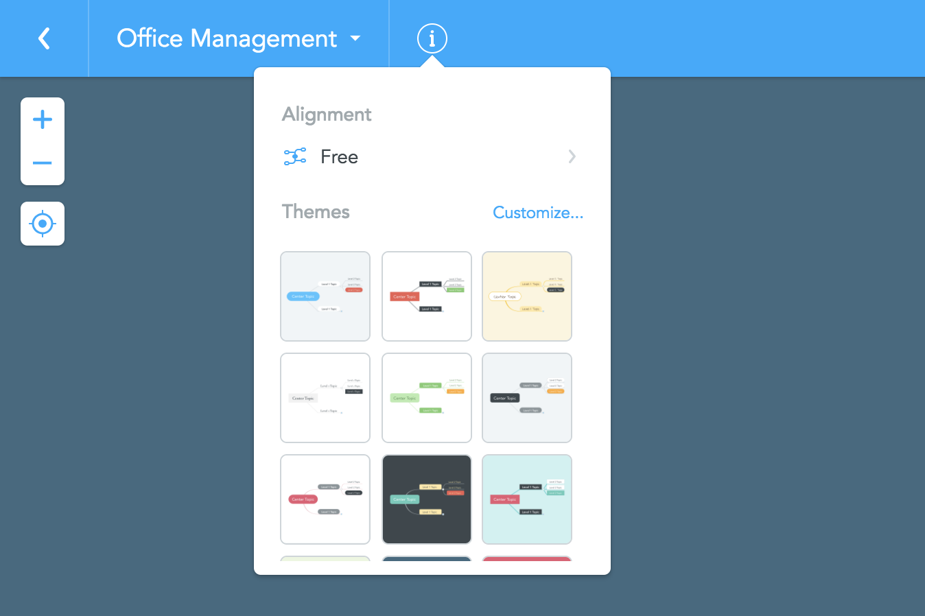 《MindMeisterの操作方法》マインドマップテーマのカスタマイズおよび保存方法