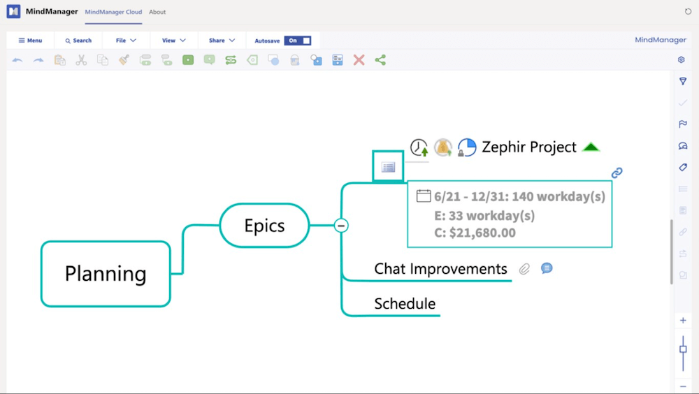 MindManager_【2021年版】Microsoft Teamsと連携したマインドマップアプリ4つ
