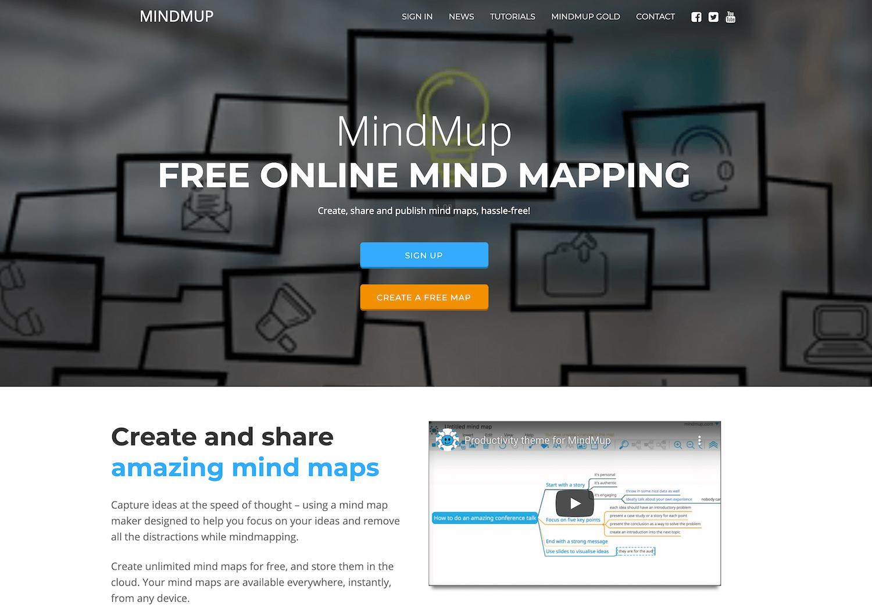 MindMup_《2021年完全版》WEBブラウザで使える無料オンラインマインドマップツール&アプリ比較15選