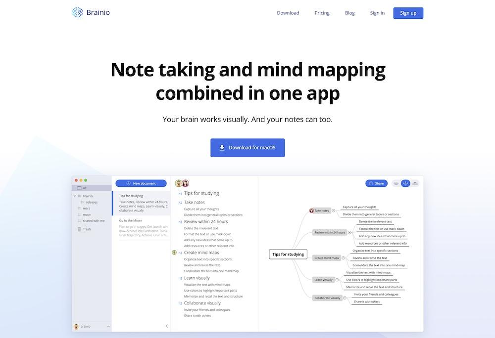 Brainio(ブレイニオ)_【比較論】マインドマップツール、「感覚」で選ぶか?「機能」で選ぶか?7つのツールで検証する