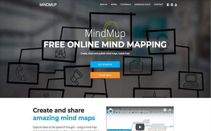 mindmup_《2019年版》インストール不要!WEBブラウザで使える無料オンラインマインドマップツール [BEST10]