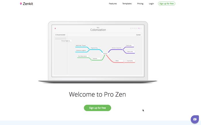 zenkit_《2019年版》インストール不要!WEBブラウザで使える無料オンラインマインドマップツール10選