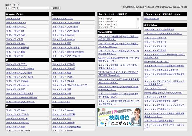 検索キーワード逆引き⇒マインドマップ化すればYouTube動画やブログのネタは無限。