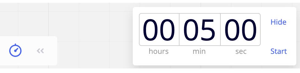 【miro】カウントダウンタイマーで時間管理、会議の生産性を高める(Teamプラン以上)
