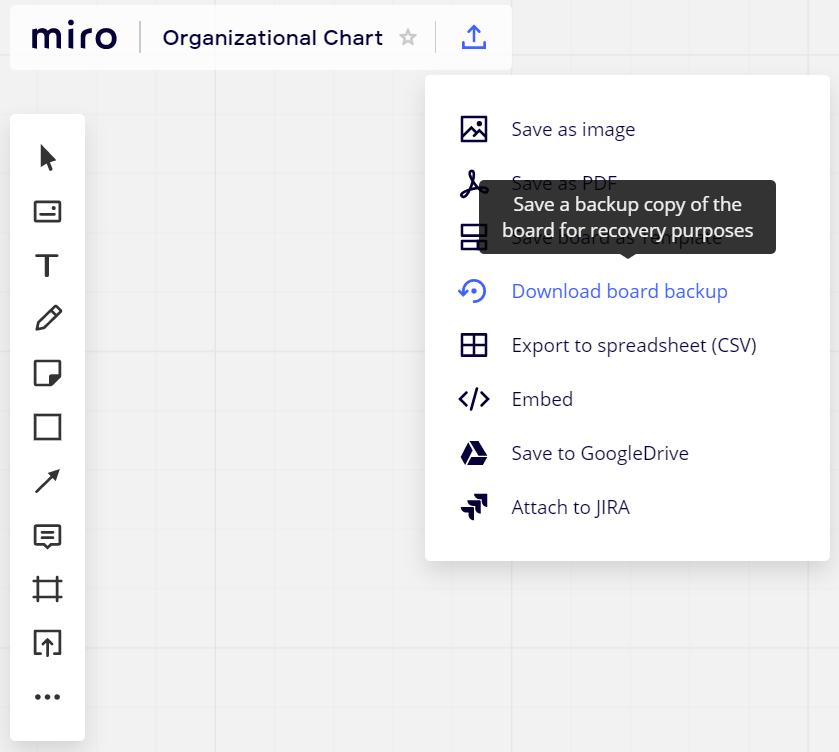 【miro】作成したボードのバックアップ&復元機能