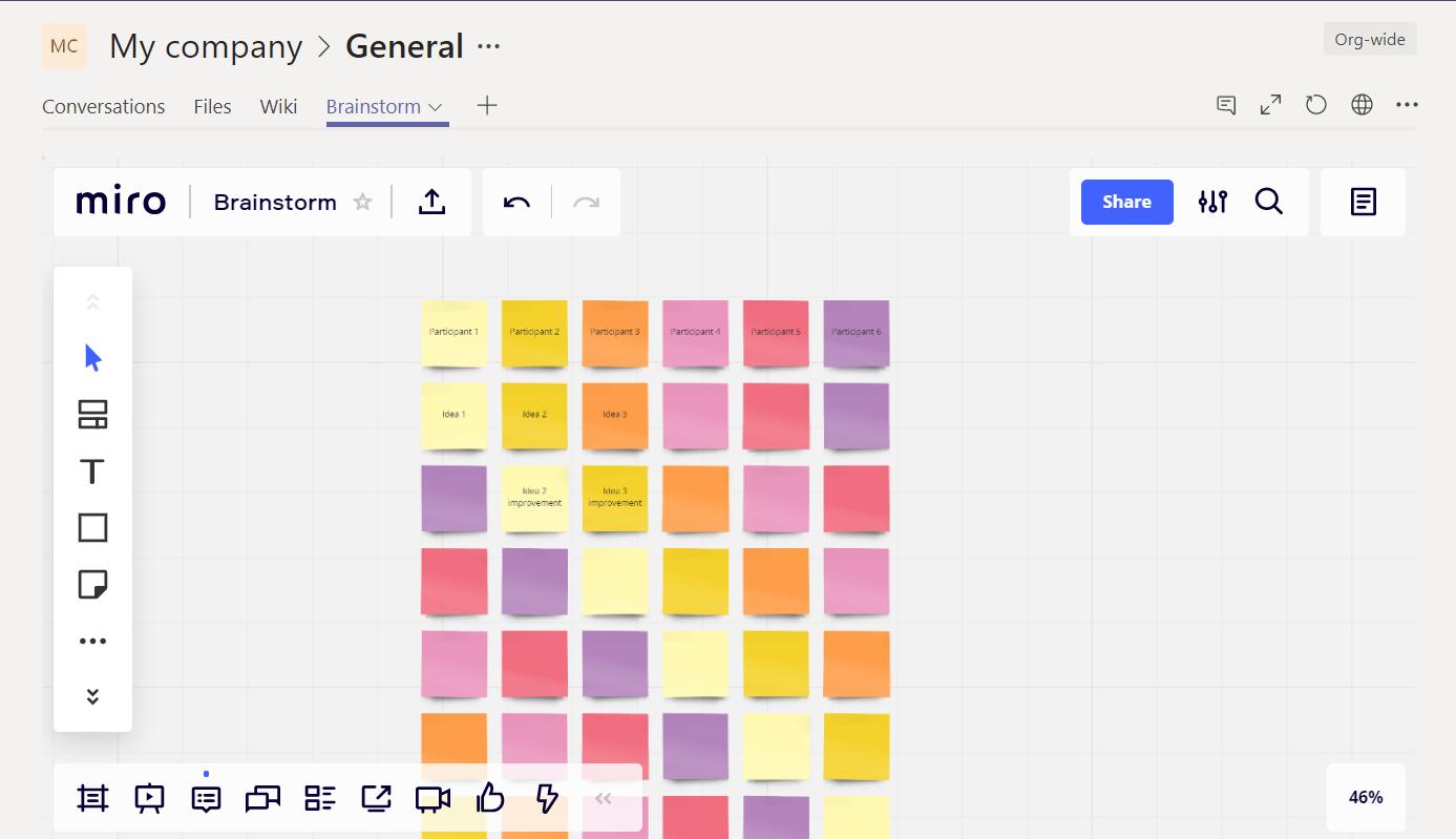 Microsoft Teamsチャンネルに組み込まれたボード
