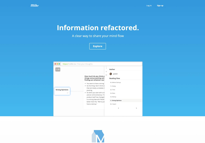 Milkr(ミルカー)_《2021年完全版》WEBブラウザで使える無料オンラインマインドマップツール&アプリ比較15選