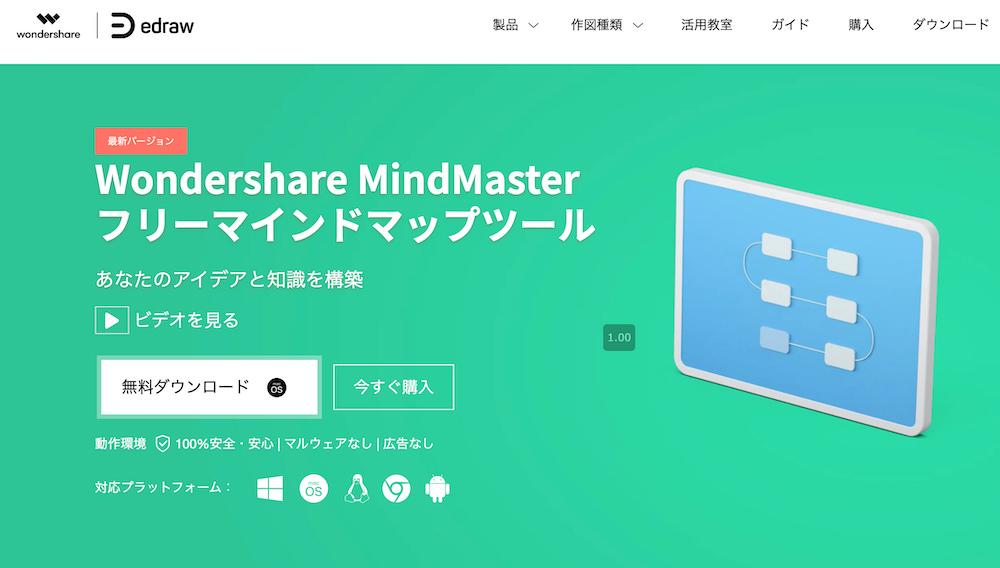 MindMaster(マインドマスター)_【比較論】マインドマップツール、「感覚」で選ぶか?「機能」で選ぶか?7つのツールで検証する
