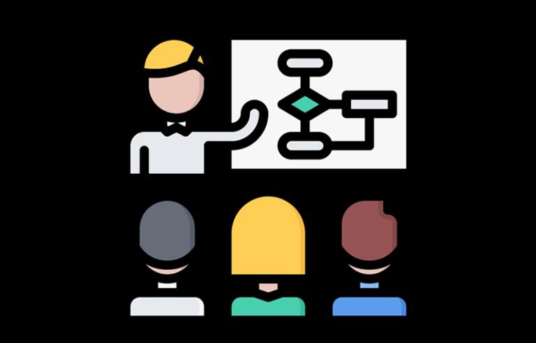 セミナー冒頭で全体像をマインドマップで示し、参加者の脳内に「学習地図」を描く。