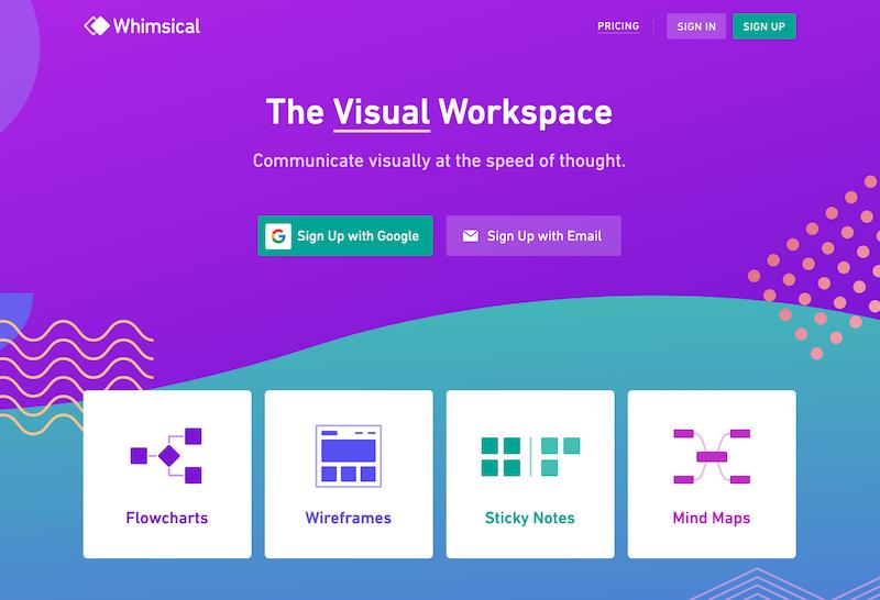 whimsical_《2020年完全版》WEBブラウザで使える無料オンラインマインドマップツール&アプリ比較15選