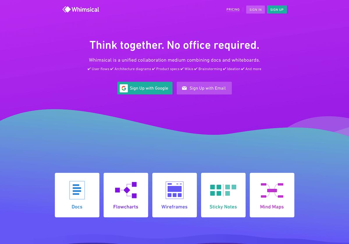 Whimsical(ウィムジカル)_《2021年完全版》WEBブラウザで使える無料オンラインマインドマップツール&アプリ比較15選