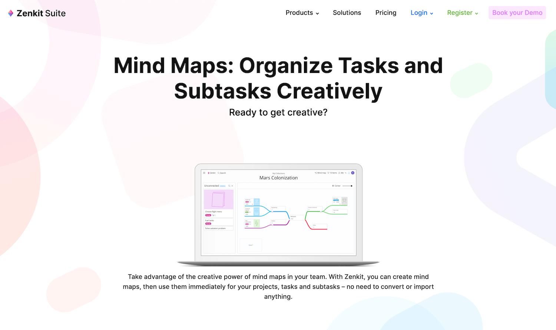Zenkit(ゼンキット)_《2021年完全版》WEBブラウザで使える無料オンラインマインドマップツール&アプリ比較15選